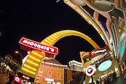 De 'strip' met casino's in Las Vegas.<br />