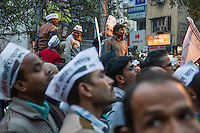 Delhi, India: The Aam Aadmi (Common Man's) Party, led by Arvind Kejriwal, swept the 2015 Delhi legislative elections, winning 67 of 70 seats and dealing a setback to the ruling BJP and Prime Minister Narendra Modi, who had hoped to add to his party's electoral gains.