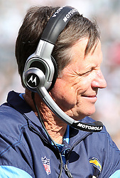 Oct 23, 2011; East Rutherford, NJ, USA; San Diego Chargers head coach Norv Turner during the first half at MetLife Stadium.