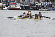 Henley, GREAT BRITAIN, Visitors' Challenge Cup, George WHITTAKER, Simon HISLOP, Keiran WEST and Mike HENNESSY 2008 Henley Royal Regatta, on  Sunday, 06/07/2008,  Henley on Thames. ENGLAND. [Mandatory Credit:  Peter SPURRIER / Intersport Images Rowing Courses, Henley Reach, Henley, ENGLAND . HRR
