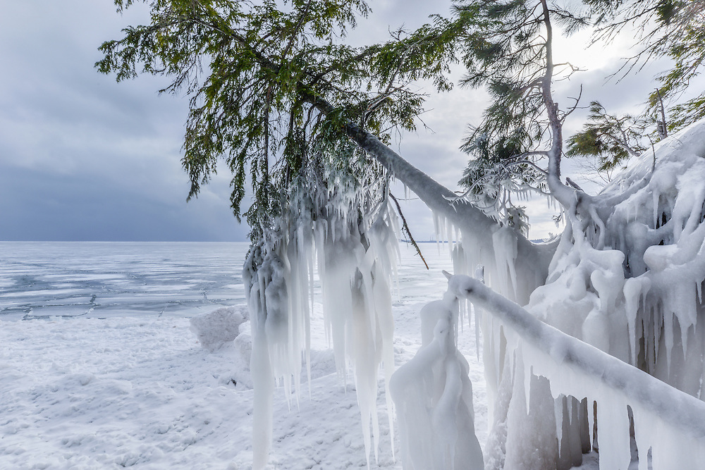 A frozen landscape in Marquette County<br />