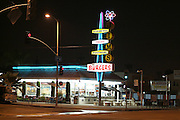 Night shot of Jim's in East Los Angeles, CA 4/06/2008. ..