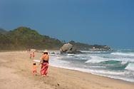 Beach, Arrecifes, Park Tayrona, Parque Nacional Tayrona, Department Magdalena, Colombia