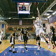 Delaware Junior Center (#51) Sarah Acker shot scoring 2 of her 4 points during VCU delaware game at the The Bob Carpenter Center In Newark Delaware Thursday Night.