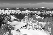 Mt. Olympus, Olympic National Park from the air, looking to the northeast