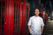 French Chef Pascal Aussignac who owns the Michelin-starred Club Gascon, London, UK. Photographed in Smithfield Market, Farringdon, London.