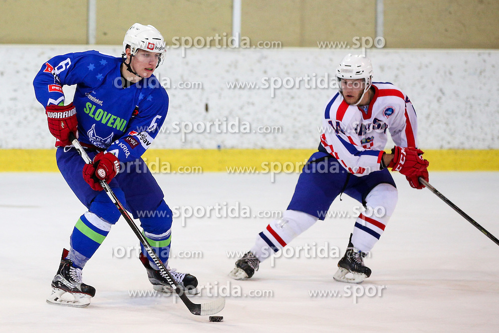 Mark Cepon of Slovenia during friendly ice hockey match between Slovenia and Croatia, on April 12, 2016 in Ledena dvorana, Bled, Slovenia. Photo By Matic Klansek Velej / Sportida