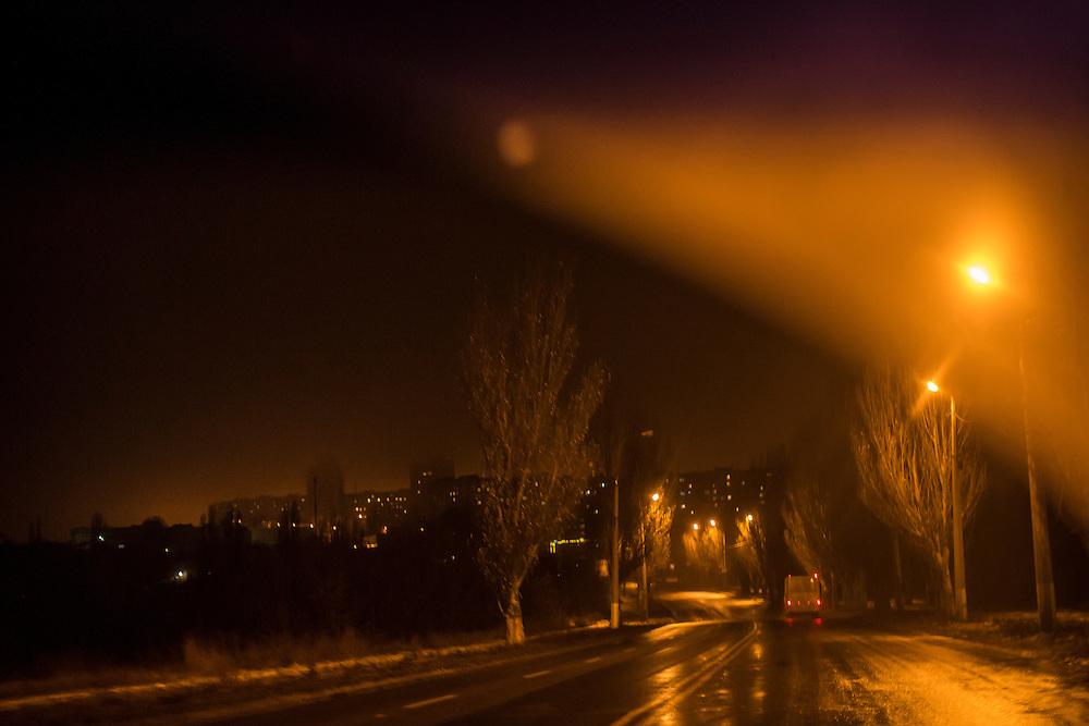 DONETSK, UKRAINE - DECEMBER 8, 2014: The city outskirts of Donetsk, Ukraine. CREDIT: Brendan Hoffman for The New York Times