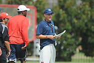 Ole Miss Coach Hugh Freeze at football practice in Oxford, Miss. on Sunday, August 4, 2013.