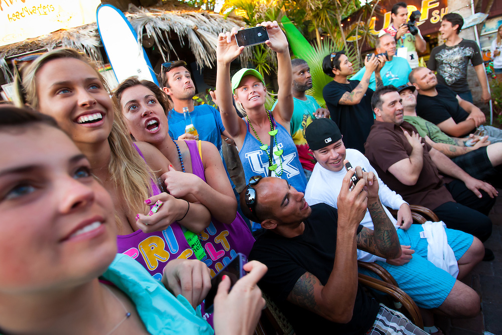 SARASOTA, FL -- March 13, 2010 -- Spring breakers party it up in a packed house during a bikini contest at the Gilligan's Island Bar and Grill on Siesta Key, Fla., in Sarasota, FL, on Sunday, March 13, 2011.