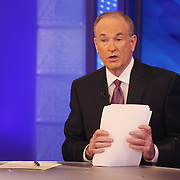 Bill O'Reilly filming The O'Reilly Factor.