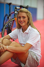 AUG 02 2013 Laura Trott promotes the Prudential RideLondon