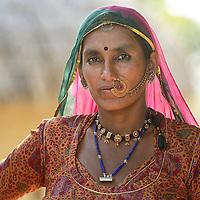 Vishoni or Bishnoi Villages ,Rohet, Rajasthan,India,Asia.