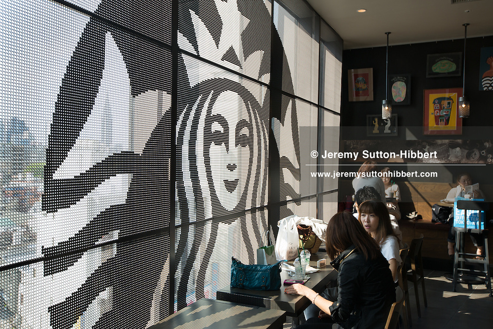 Starbucks coffee shop, inside the new 'Tokyu Plaza Omotesando Harajuku' shopping complex in Harajuku district, in Tokyo, Japan on Friday 11th May 2012.