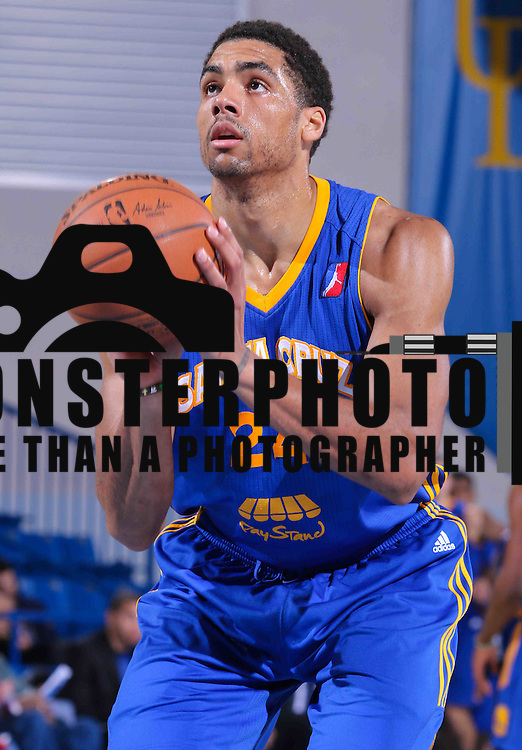 Santa Cruz Warriors Forward James Michael McAdoo (24) seen attempting a free throw in the second half of a NBA D-league regular season basketball game between the Delaware 87ers and the Santa Cruz Warriors (Golden State Warriors) Tuesday, Jan. 13, 2015 at The Bob Carpenter Sports Convocation Center in Newark, DEL