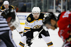 Dec 23, 2008; Newark, NJ, USA; Boston Bruins right wing Phil Kessel (81) during the first period of their game against the New Jersey Devils at the Prudential Center.