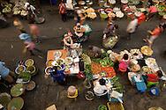 busy morning at Myung Mai market, Chiang Mai, Thailand