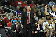 Ole Miss vs. Wisconsin's head coach Bo Ryan in the NCAA Tournament at the Sprint Center in Kansas City, Mo. on Friday, March 22, 2013.
