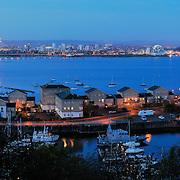 Cardiff panoramic city skyline