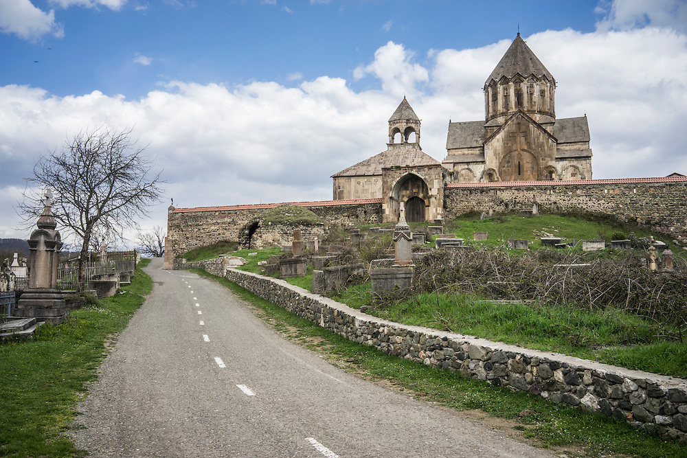 MARTAKERT, NAGORNO-KARABAKH - APRIL 17: Gandzasar Monastery on April 18, 2015 in Martakert, Nagorno-Karabakh. Since signing a ceasefire in a war with Azerbaijan in 1994, Nagorno-Karabakh, officially part of Azerbaijan, has functioned as a self-declared independent republic and de facto part of Armenia, with hostilities along the line of contact between Nagorno-Karabakh and Azerbaijan occasionally flaring up and causing casualties. (Photo by Brendan Hoffman/Getty Images) *** Local Caption ***