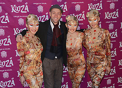 Derran Brown attends  Cirque Du Soleil Kooza Press Night  at The Royal Albert Hall, Kensington Gore, London on Tuesday 6 January 2015