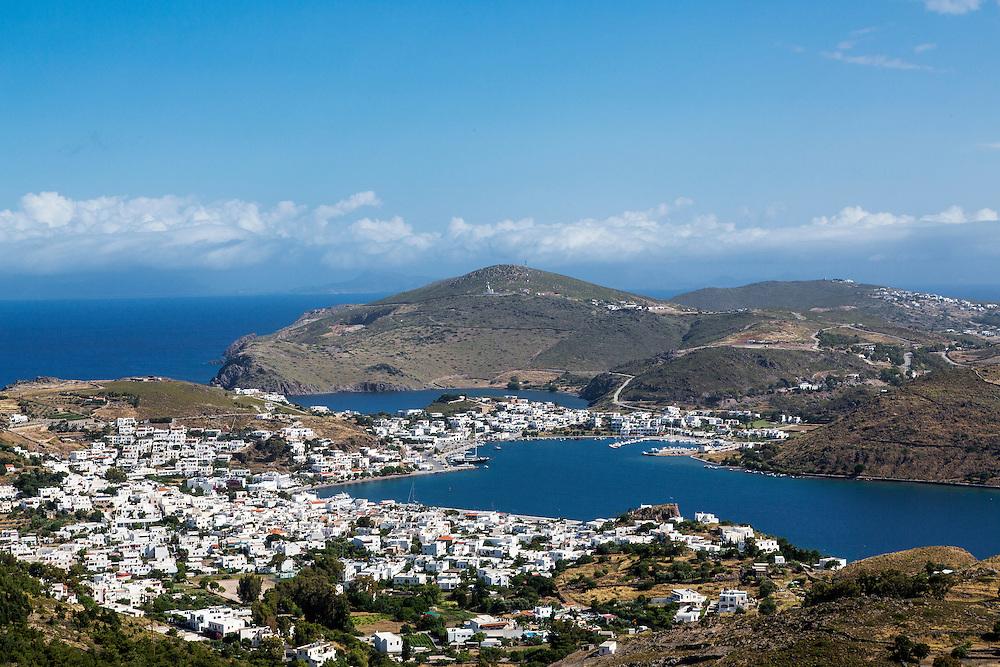 The port of Skala on the greek island of Patmos