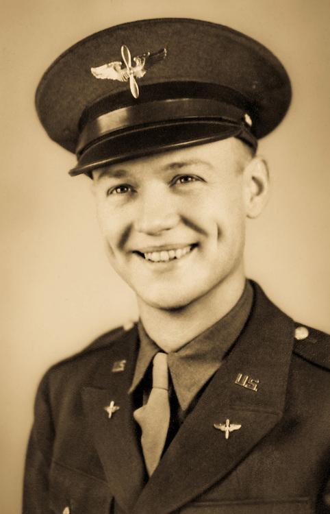 Lt. E.J. North as a flight student.