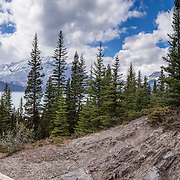 Canadian Mt. Everest Expedition Trail is a 2.1 km loop at Upper Kananaskis Lake in Peter Lougheed Provincial Park, in Alberta, Canada. Kananaskis Country is a park system in the Canadian Rockies west of Calgary. This panorama was stitched from 12 overlapping photos.