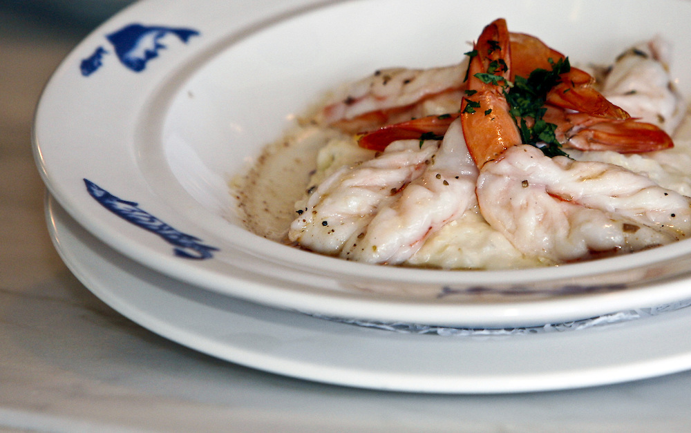 Chef Ann Cashion's shrimp and grits at Johnny's Half Shell.