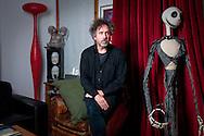 Film Director, Tim Burton, in his North London studio, UK.