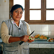 Rosita. Warmi Sayajsungo is a women's organization based in Argentina that helps women become self-sufficient. Rosario Quispe, who has seven children, and is the wife of an unemployed miner, founded the organization of indigenous Coya in 1995, called Warmi Sayajsungo, which in quechua means Women's Perseverance. Rosario had an ambitious dream for the Coya people who lived high on the arid plateau where Argentina and Bolivia meet, in the shadow of the Andes. That dream was that one day they would live in dignity on the fruits of their own work.They are taught skills and given micro credits to help their small businesses prosper..Each person photographed has their own story to tell about their life now and how the organization changed their lives for the better.