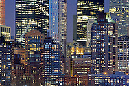 New York, New York CIty Building, Night, Lower Manahttan
