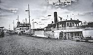 Steamships at the Strandvägen quay