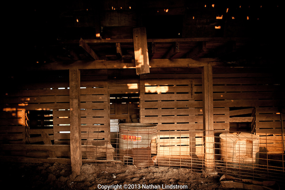 Country life and Agriculture. Insides of a barn<br /> Photographed by editorial lifestyle photographer Nathan Lindstrom