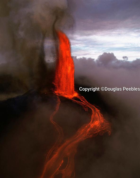 Lava fountain, Pu'u O'o Vent, Kilauea Volcano, HVNP, Island of Hawaii