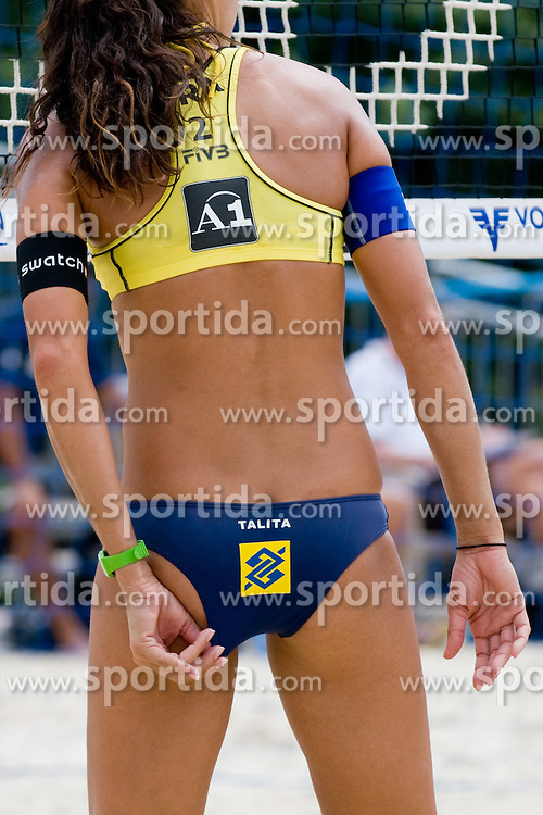 Talita Da Rocha Antunes of Brasil at A1 Beach Volleyball Grand Slam tournament of Swatch FIVB World Tour 2010, on July 28, 2010 in Klagenfurt, Austria. (Photo by Matic Klansek Velej / Sportida)