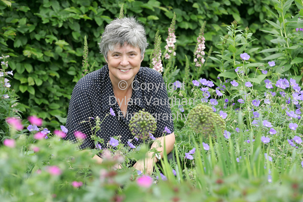 7/6/2004.Susan Richer of Potting Shed, Bolinaspick, Camolin, Gorey, Co Wexford pictured in her garden..Picture dylan Vaughan