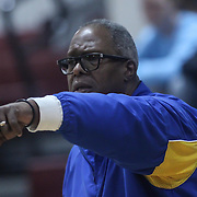 Caesar Rodney Head Coach Bill Victory calls a play from the sidelines during a Diamond State Classic game Wed. Dec. 28, 2016 at Saint Elizabeth's High School in Wilmington.