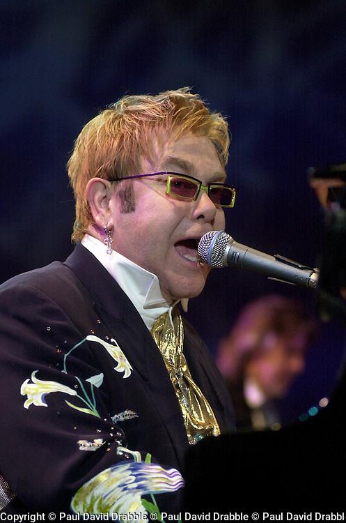 Elton John Peach Tree Road Tour. Hallam FM Arena, Sheffield.Thursday 9th December 2004..This Images is Copyright Paul David Drabble