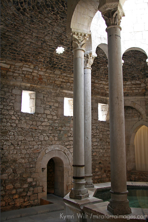 Europe, Spain, Girona. Arab Baths of Girona.