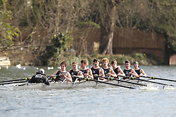 2012.02.25 Reading University Head 2012. The River Thames. Division 1. St Pauls School Boat Club IM3 8+ (time only)