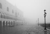 Monochrome  Venice with Fog