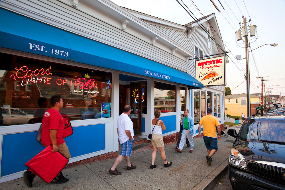 """351021-1039G.Huey ~ Copyright: George H.H. Huey ~ The restaurant """"Mystic Pizza',  made famous in the 1988 movie by the same name with Julia Roberts.   Mystic, Connecticut."""