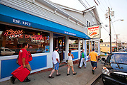 "351021-1039G.Huey ~ Copyright: George H.H. Huey ~ The restaurant ""Mystic Pizza',  made famous in the 1988 movie by the same name with Julia Roberts.   Mystic, Connecticut."