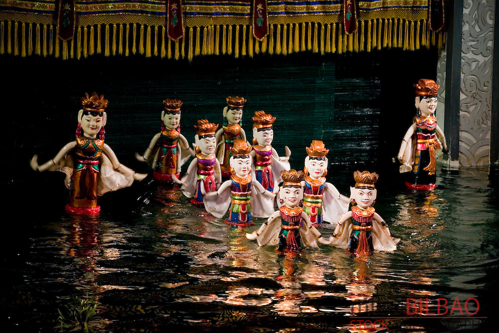 Puppets. Water puppet theather Thang Long.<br /> Hanoi, Vietnam.