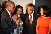 l to r: Ed Lewis, Tamika Mallory, Rev. Al Sharpton, and Michelle Ebanks at Rev. Al Sharpton's 55th Birthday Celebration and his Salute to Women on Distinction held at The Penthouse of the Soho Grand on October 6, 2009 in New York City