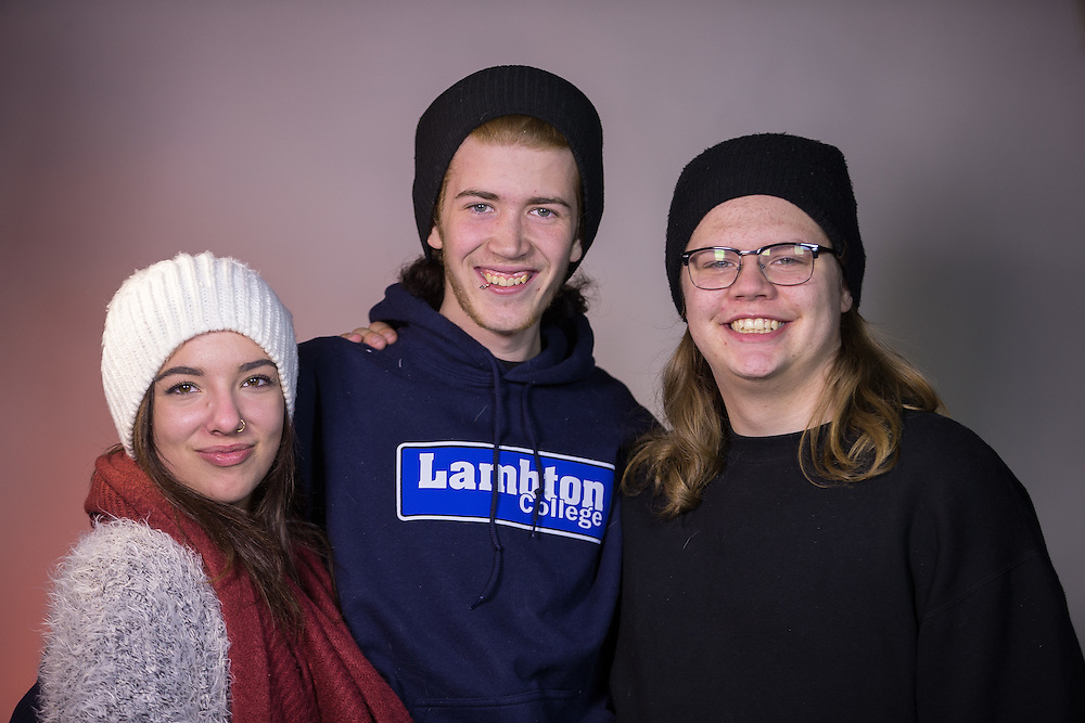 Lambton College's Dual Credit photography students take photos in the college's photo studio December 16, 2016.