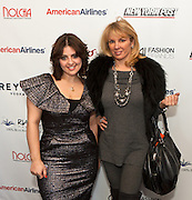 """Celebrity style expert Jess Zaino with Ramona Singer, cast member of Bravo network's Real Housewives of New York City. Nolcha supports the growth of ethical fashion and celebrate independent fashion brands who hold to sustainable, organic and eco-friendly fashion standards.  Nolcha is an award-winning leading global platform advancing the business of independent fashion designers and retailers via social e-commerce, fashion week events and an educational video portal. Ramona Singer, cast member of Bravo network's Real Housewives of New York City, is an astute businesswoman and a true aficionado of fashion with a passion for being a wife and mother. Her newest venture is Ramona Pinot Grigio made in the Venoto region of Italy, partnering with a 75 year-old Italian wine company. Ramona can now do """"Turtle Time"""" all the time! Ramona has taken the beauty and accessory industries by storm with her Tru Renewal skincare line, her True Faith jewelry collection, and, this March, her two-year anniversary for Ramona Singer Jewelry on HSN. She also has her Amazon store, Ramona Singer Collections."""