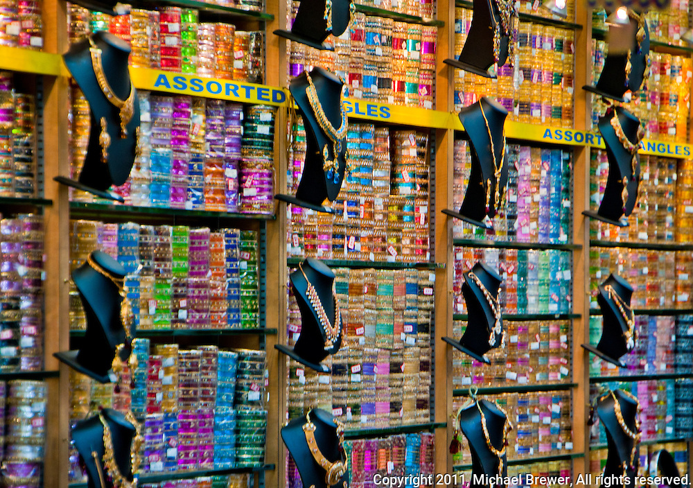 - Assorted-bangles-and-ribbons-in-a-shop-in-Little-India-in-Singapore