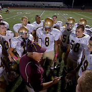 10/05/12 - Middletown, DE - Appoquinimink Football - St. Elizabeth player and head coach Joe Hemphill (Center) talks to his team after a Week 5 DIAA football 24 -21 win over Appoquinimink Friday, Oct. 05, 2012, at Appoquinimink High School in Middletown DE. ..SAQUAN STIMPSON/Special to The News Journal